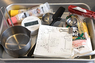 レシピを図にしたり、小道具を用意したり、万全の体制を整えてきた。
