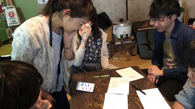 勝敗は、撮影をしてくれていた編集部の橋田さんに見てもらい、