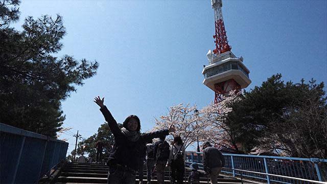 東京タワーに似た宇都宮タワー。小さいながら町が一望できる。190円とお手頃。