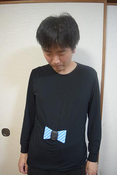 実際の使用場面はお見苦しいかと思いますのでヒートテックを着ています