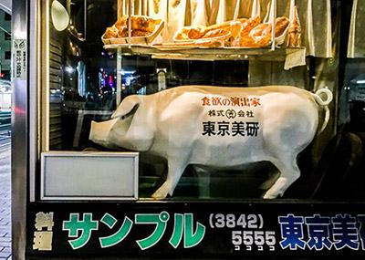 有名食品サンプル会社のショウウィンドウ。いわば3D共食いキャラの総元締めだ。