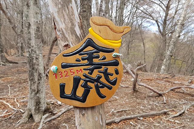 金袋山(きんたいさん)に着きましたが、尾根はまだまだ続きます。