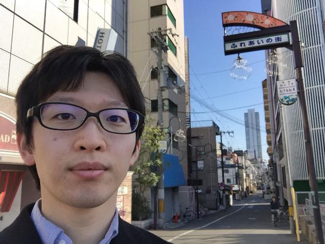 そしてたどり着いた天神橋筋商店街のはじっこで記念撮影