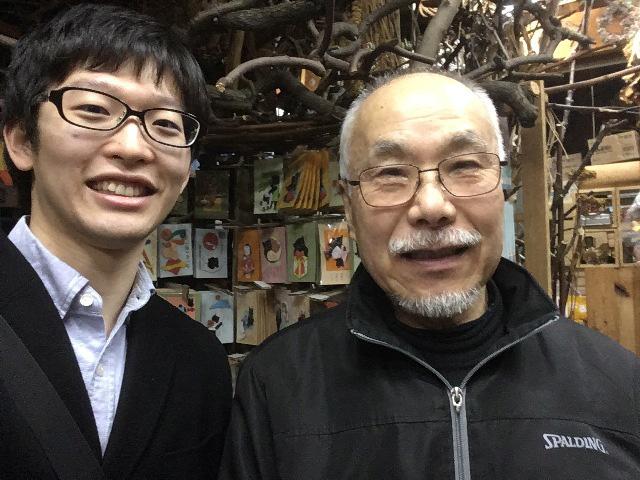 こちらがご主人の八木さん(右) 左は筆者です