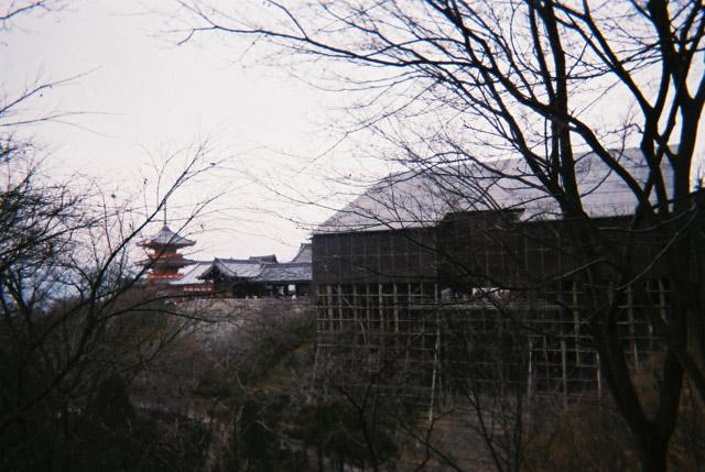 清水寺が改修工事をしていたのは残念だった