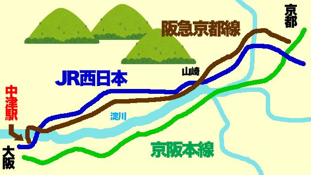 ざっくりとした略図。(新幹線などはかいてません)