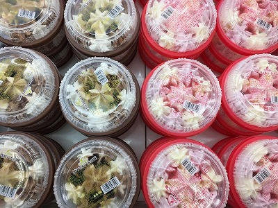 山形のスーパーではフタバの懐かし系アイス「サンフォルテ」がたくさん売られておりました