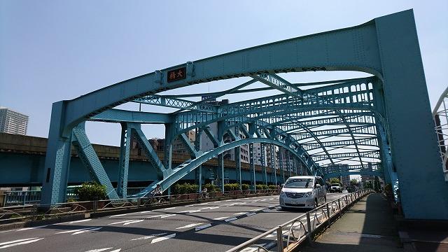 これが千住大橋。現在の橋は昭和2年に造られたもの