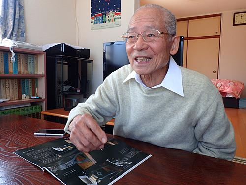 1939(昭和14)年生まれ、79歳の蒲池巖さん。まだまだ元気、そして現役。