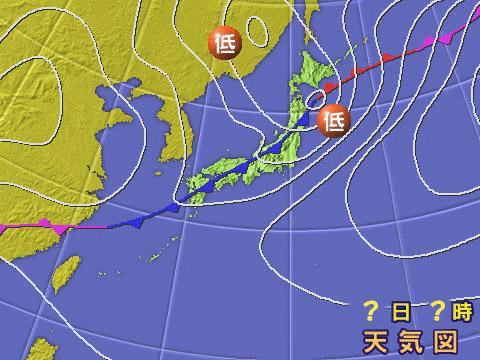 2004年5月31日。気象庁天気図。