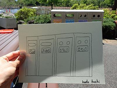 味のあるごみ箱も描いてもらいました。