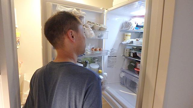 食材充実の冷蔵庫。