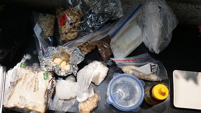 今度は「サクッ」「トロ~リ」「もっちり」などの食感の素材を集めた