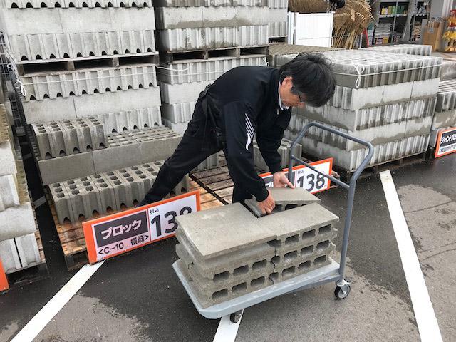 重量は、コンリートブロックもくわえると全部で400kg以上