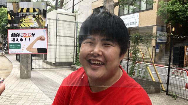 この間食べた酢豚の話でこの笑顔である。具材が少なかったらしい