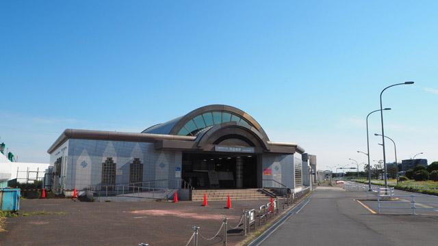 うっかり昭和島と整備場の駅を通りすぎてしまい、天空橋についた