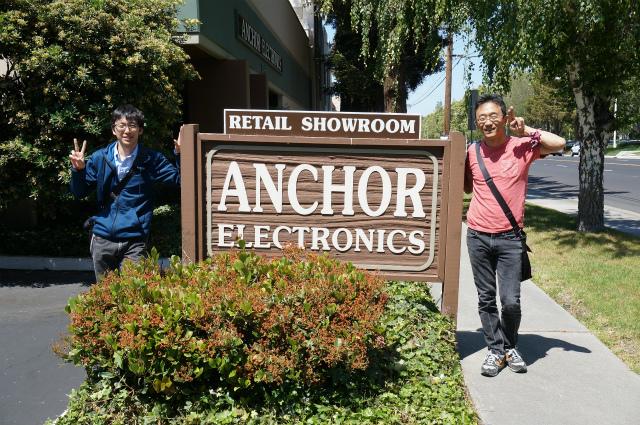 今回一緒に来てくれたおふたり。右が現地在住の河合さん。左はMaker Faireで日本から渡米していた木下さん