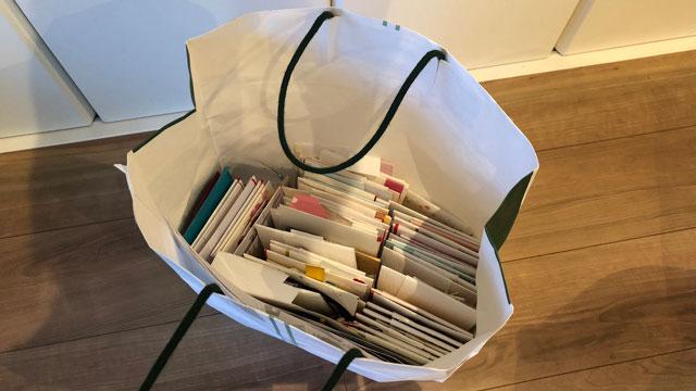 これだ。数えたら69袋もあった。