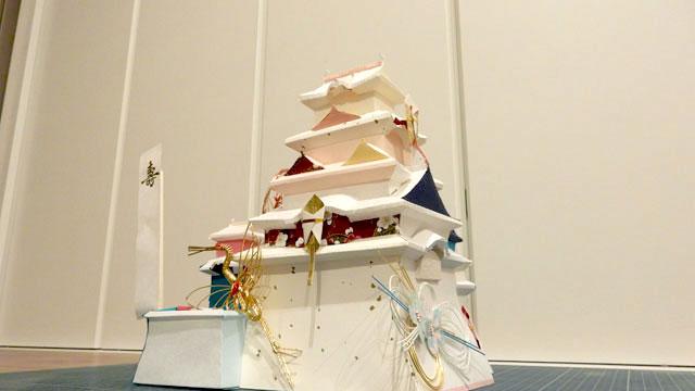 予定より2日遅れた夜中の3時、感謝の姫路城が完成しました!