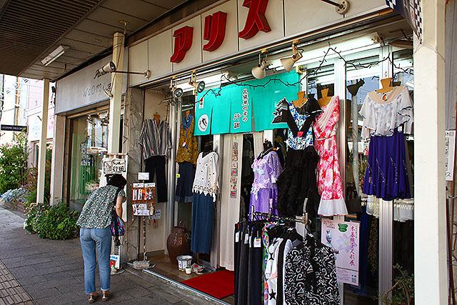 ザ・商店街のオシャレ着屋さん。