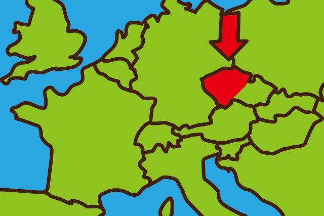 ボヘミア地方は地図で言うとこのへん。