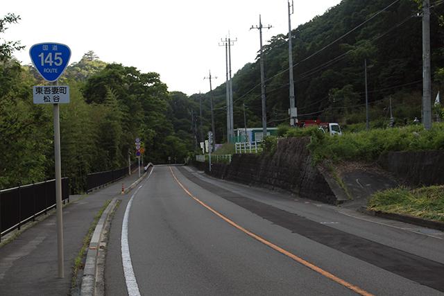 吾妻川沿いを走る旧国道145号