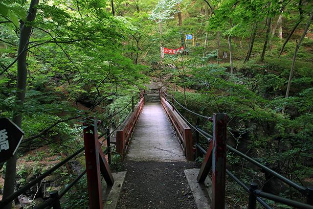 吾妻渓谷の上に架かる橋