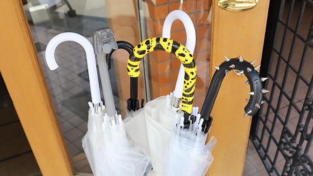 雨の日に盗まれないための、新しいビニール傘のご提案。