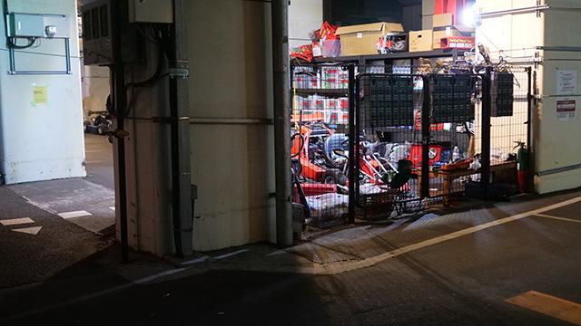 マリカーの駐車場だ! ここから渋谷まで来てるのか