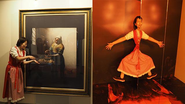 有名な絵画が飾られているかと思いきや、またトリックアートがでてきたりする