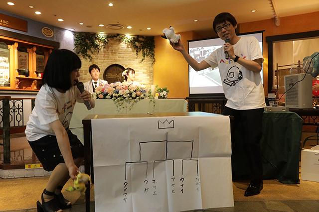 世界大会と同じく編集部の石川さん・古賀さんが司会。震えた。