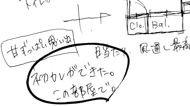 間取り図を描いてもらうと、間取り以外のことが書かれて、それがとてもおもしろい。