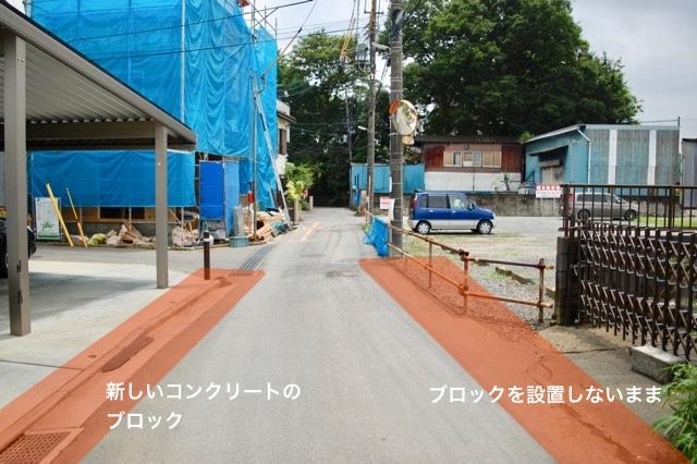 左はブロックできっちり境界を画定、右は境界が曖昧