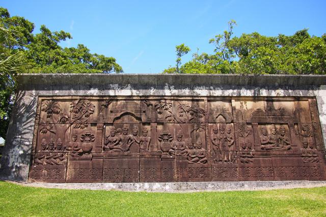 こはカンボジア?謎の壁画