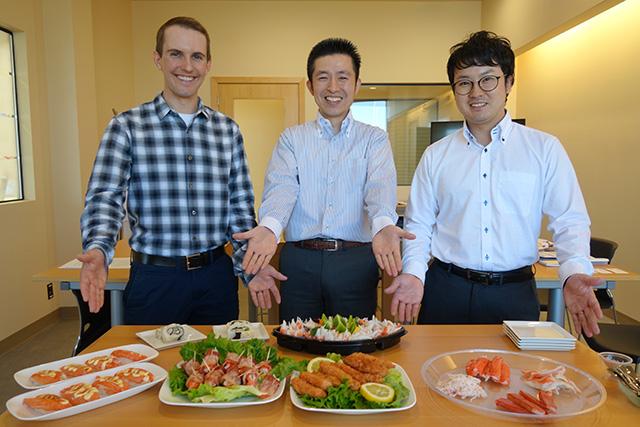 迎えてくれたのは左からAndy Banasさん, 新田さん、浦邉さん(以下は敬称略です)