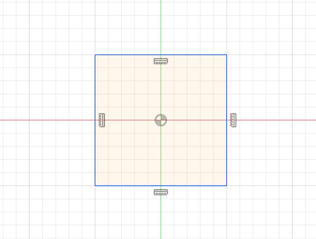 まず平面に図形を描きます。線、四角、円、多角形などいろいろ描けます。