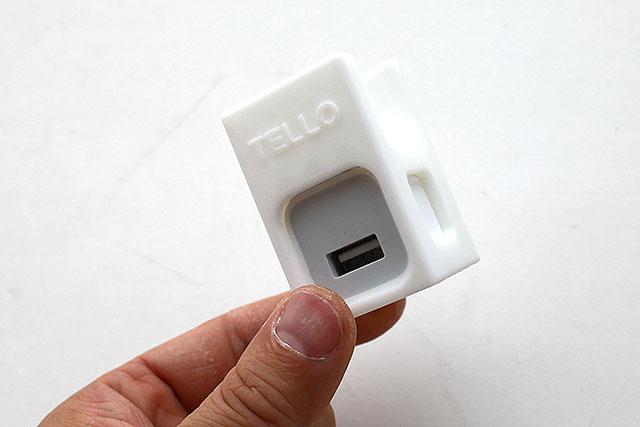 TELLOという名前のトイドローン用の充電ホルダーも作りました。iPhoneのACアダプターがピッタリ入ります。