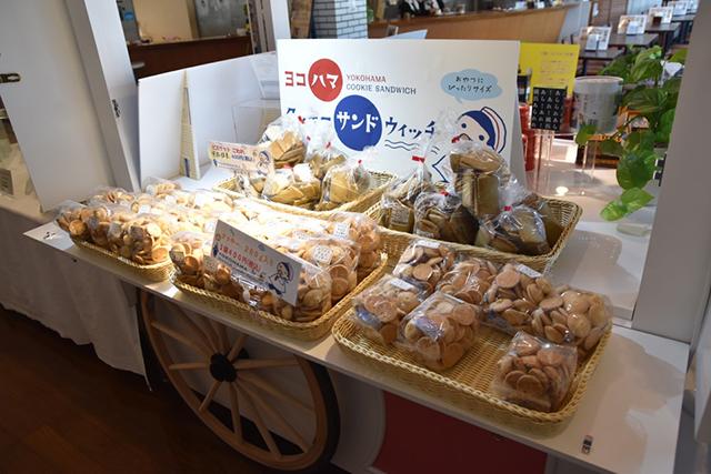 工場オリジナルのクッキーコーナー