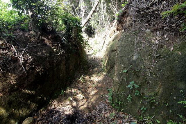 春日の棚田から安満岳へ続く登山道の名残り