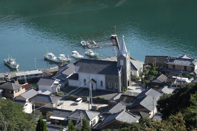 現在の教会堂は踏絵を行っていた庄屋の住宅跡に建てられたという