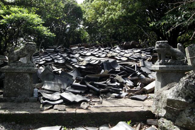 集落の守り神であった神社も……無常である