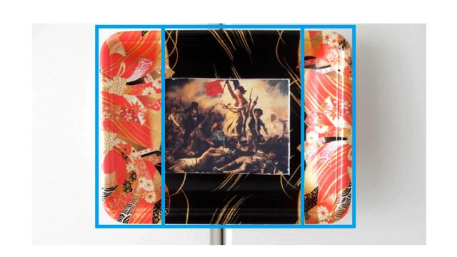 あと、トレイ全体のレイアウトもフランス国旗と同じく縦に3つに分かれている。
