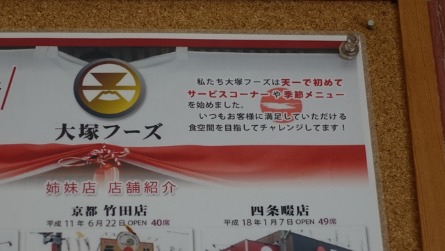 フランチャイズである大塚フーズが初めてサービスコーナーを始めたそうだ。