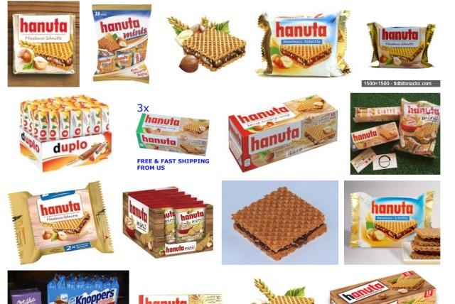 ビックリ○ンチョコ……? と思って「hanuta」で画像検索したら「はは~ん!」ってなった