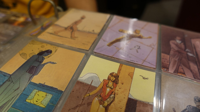 「メビウスというフランスのコミックアーティストが描いたマンガのワンシーンのカードです」
