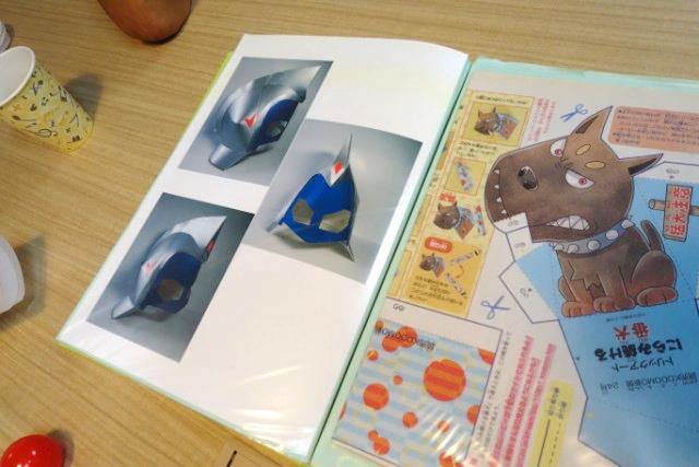 マスクも作れるのか!と今更ながら驚く。紙でなんでも作れる、と林さんがしきりに感心してた