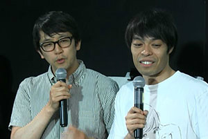 審査員:石田剛太さん、酒井善史さん(ヨーロッパ企画</a>)