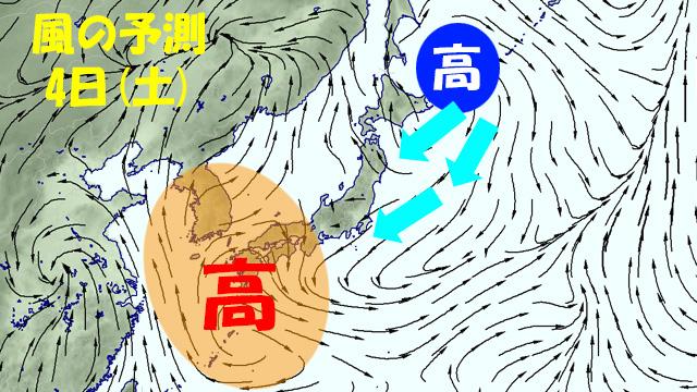 西の暑い高気圧vs北の涼しい高気圧。軍配はどちらに?