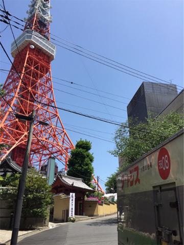 東京タワーとターャジス。こちらは別の友人から送られてきた作品。(私の友人にはターャジスを集めている人が多い。) 東京タワーのふもとを走るターャジス。光と影、静と動の対比に加え、鮮やかな色彩が真夏の強い生命力を感じさせる良作。