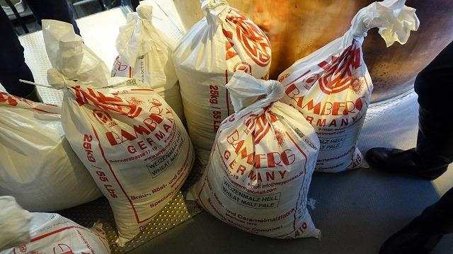 今回使うのはドイツ産の麦芽。これを128キロ入れる